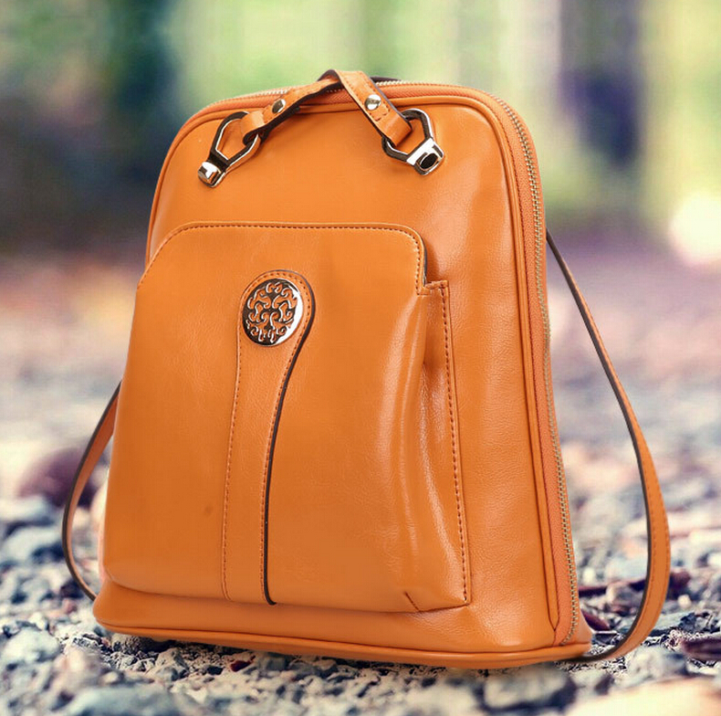 Vintage Genuine Leather Backpack  Women /school 0460 shoulder student bag Girls womens ladies genuine leather backpack <br><br>Aliexpress