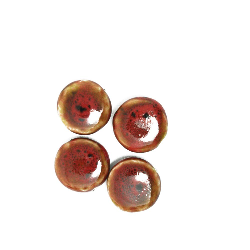 NiceBeads Chinese Style 20mm 10pcs/lot Flat Round Ceramic Flower Glaze Porcelain Beads For Jewelry Vintage Beads(China (Mainland))