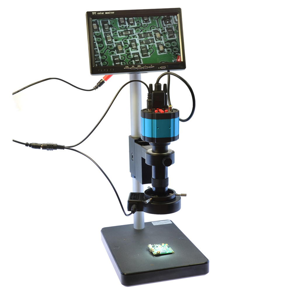"2.0MP VGA HD 2in1 Industry Digital Microscope Camera + 7"" VGA LCD Monitor + Stand Holder + 120X C-Mount Lens + 40 LED Ring Right(China (Mainland))"