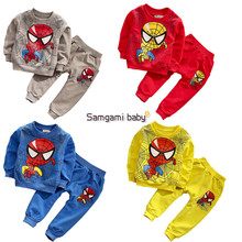 2016 new Spiderman Children Boys Suits Clothing Baby Boy Spider man Sports sets  Kids 2pcs Sets Spring Autumn Clothes Tracksuits(China (Mainland))