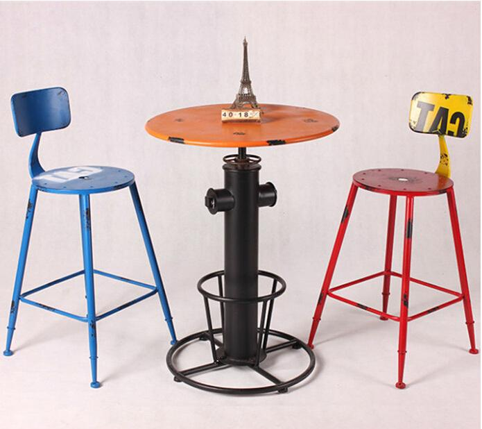 american country to do the old vintage wrought iron tables a