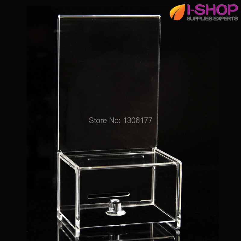 """Suggestion, Ballot & Drop Boxes, Includes locking mechanism. Can also be used for donations w/ Lock & 5"""" x 7"""" Header YX2-14(China (Mainland))"""