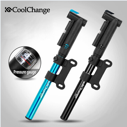 CoolChange Cycling Bicycle High-Pressure Air Pump MTB Alloy Bike Portable Pump 130g 2 Colors To Choice(China (Mainland))