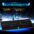 The wielder of Internet cafes game CF lol Keyboard Black shaft Kaiwa monochromatic light mixing colorful