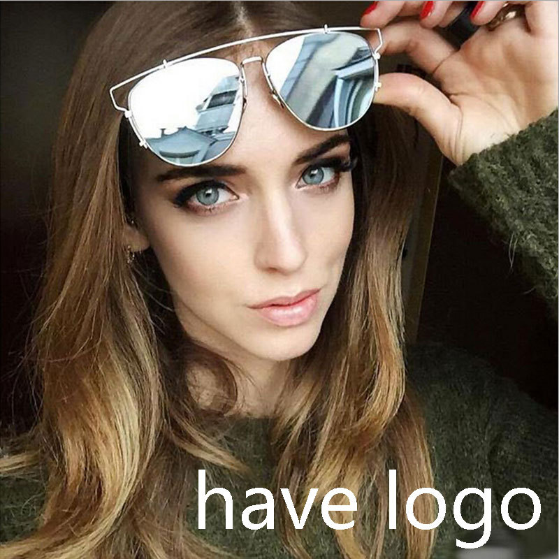 Luxury Brand Women Technologic Polarized Sunglasses Vintage Wire Frame Polaroid Reflective Mirror Sunglass Points Oculos Retro(China (Mainland))