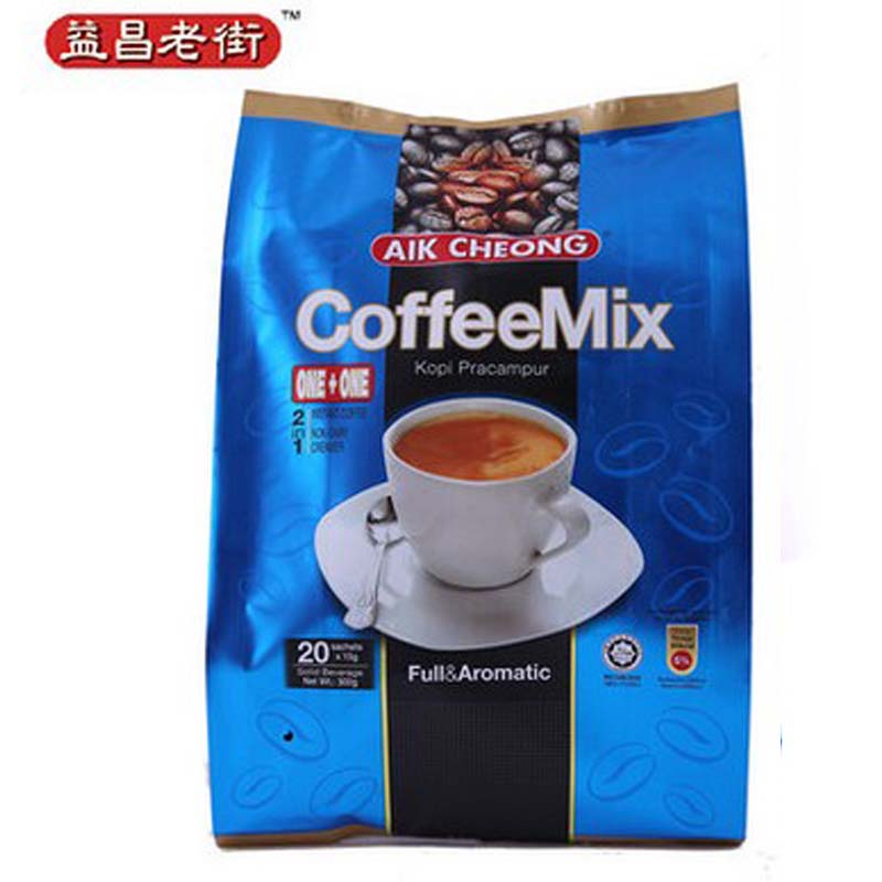 Malaysia combined sugar free instant white Coffee Mix 300 g AIK CHEONG full aromatic