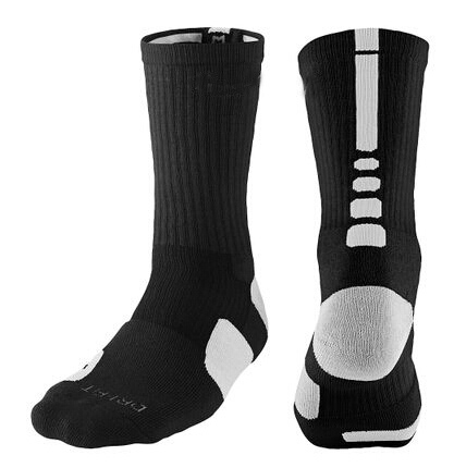 2015 AD elite thick cotton sport socks knee hight cotton towel men basketball Socks long custom elite sock deodorant for men(China (Mainland))