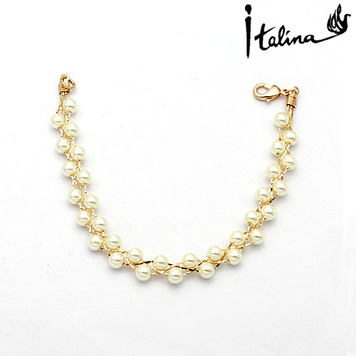 Italina Rigant 18K Real Gold Plated Pearl  bracelet for womenHigh Quality #RG30968<br><br>Aliexpress