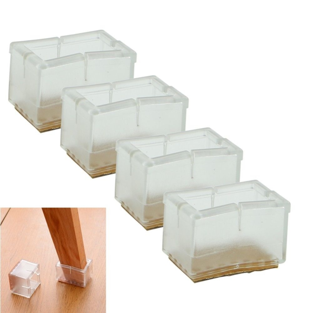 1 set /4 pcs New Square Chair Leg Caps Rubber Feet Protector Pads Furniture Table Covers(China (Mainland))