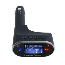 2016 Car MP3 Audio Player Bluetooth Car Kit MP3 Player FM Transmitter Modulator Support SD Card USB with Remote #ET258