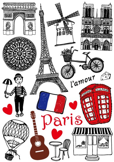 Vintage Paris Sticker for Car Tablet Phone Computer Laptop Sticker Trolley Luggage Suitcase Guitar Skateboard Car Stickers(China (Mainland))