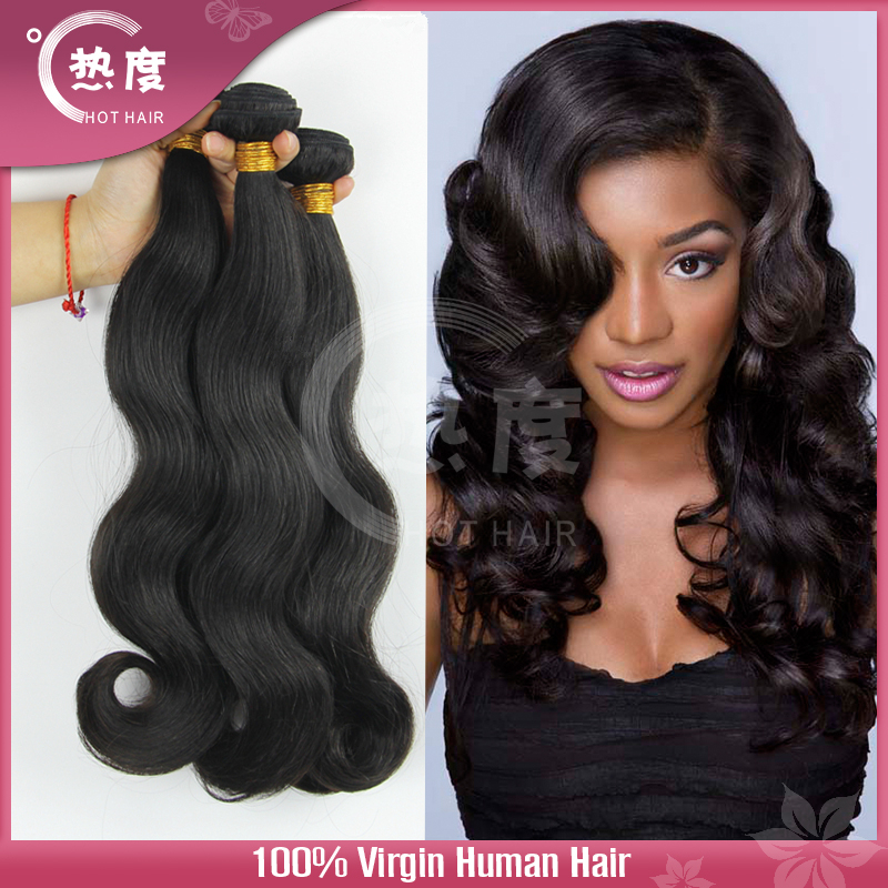 6A Unprocessed Peruvian Virgin Hair Body Wave Virgin Peruvian Hair Human Hair Weave Wavy Peruvian Body Wave 3 pcs Lot(China (Mainland))
