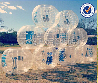 2015 Newest PVC 1.5m bumper body,bubble bumper,big soccer ball with clear logo printing IN STCOK(China (Mainland))
