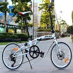 KALAQ Q7 20-inch folding bicycle, Front and rear disc brakes,shock absorbers, front and rear quick release lightweight