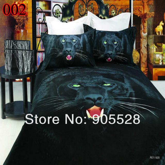 2013 100% quality Hot Selling 3D Leopard bedding set Animal Mordern Unique comforter Set AB Duvet Cover set Bed pure cotton