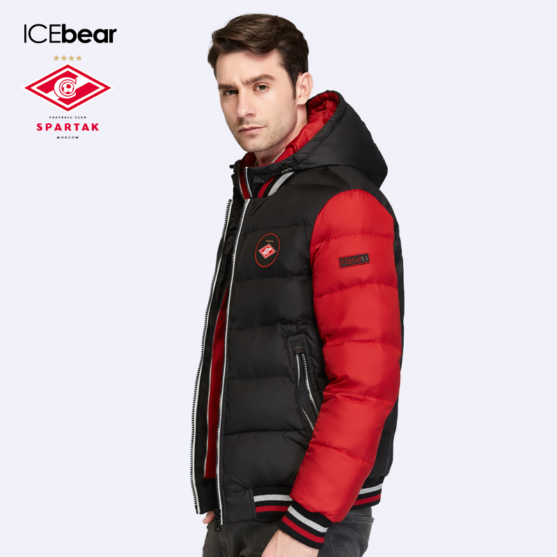 SPARTAK ICEbear Joint Production 2017 Mens Winter Coat Regular Thickening Parkas For Men Winter With Long Sleeves 17M872D(China (Mainland))
