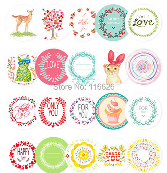 228pcs/lot korean cute adhesive stickers with multi-patterns kawaii mini seal label for cup/gift bag/mobilephone cheap(China (Mainland))