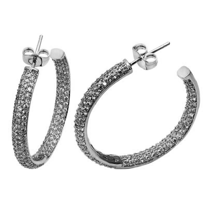Love Deluxe Earrings- Hoop Earrings Fashion Platinum 18K Gold Plated AAA Quality Cubic Zirconia Women's - store