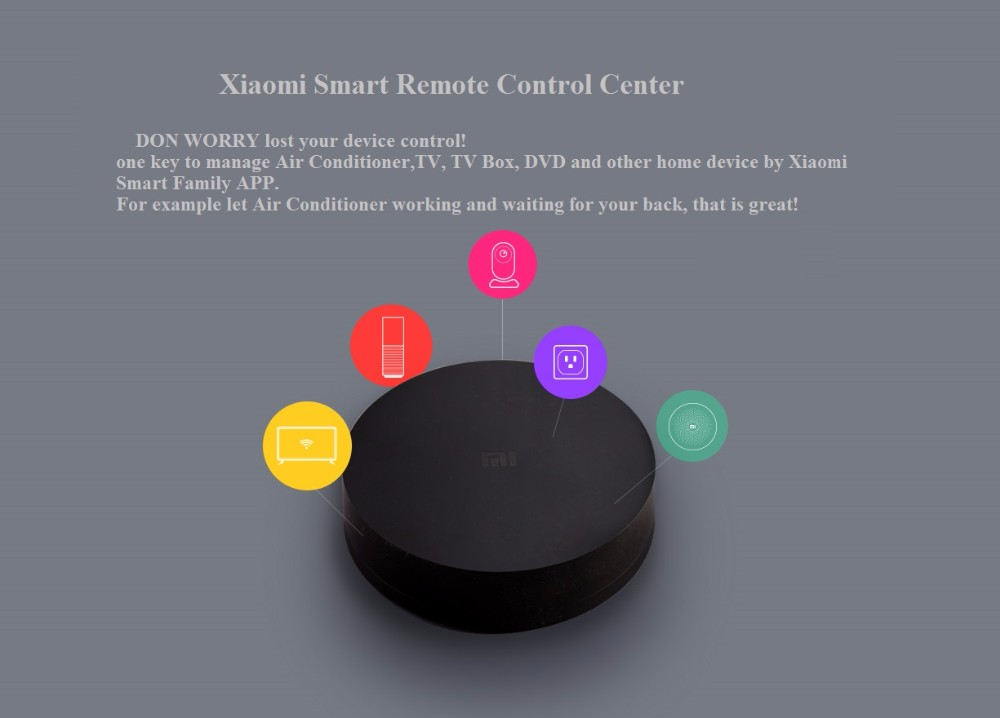 image for Xiaomi Mi Universal Smart Remote Controller Home Appliances WIFI+IR Sw