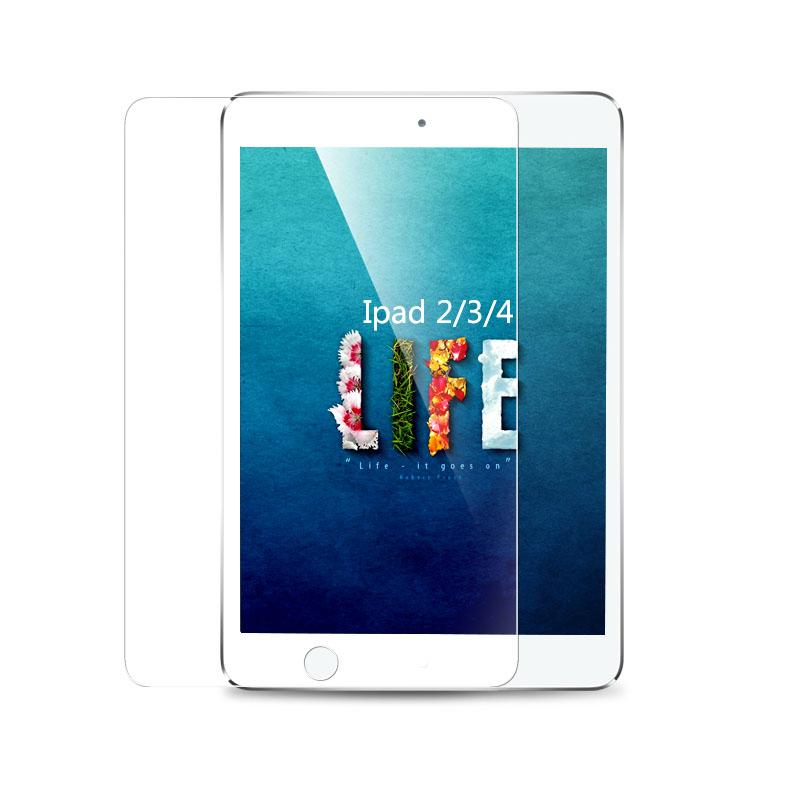Гаджет  2015 Hot Sale Transparent Tempered Glass Screen Protector fit for iPad 2 3 4 Waterproof Clear Toughened Protective 9H 2.5D None Телефоны и Телекоммуникации