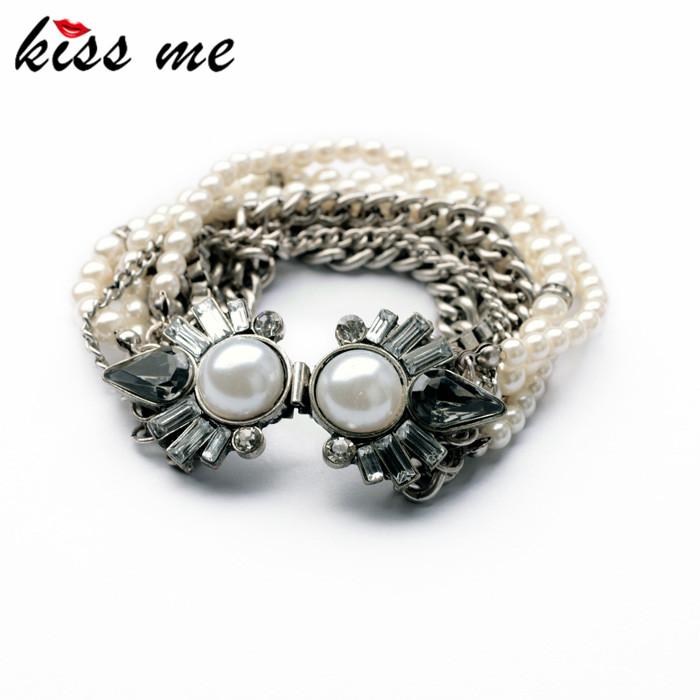 Styles 2014 Statement Fashion Women Jewelry Elegant Imitation Pearls Charming Bangles & Bracelets - KISS ME Official Store store