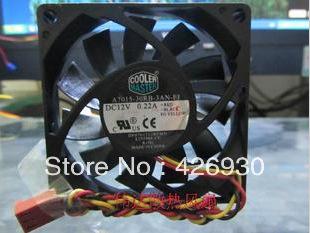Server Cooler Fan COOLER MASTER 7015 A7015-30RB-3AN-F1 DC 12V 0.22A Cooling Fan(China (Mainland))