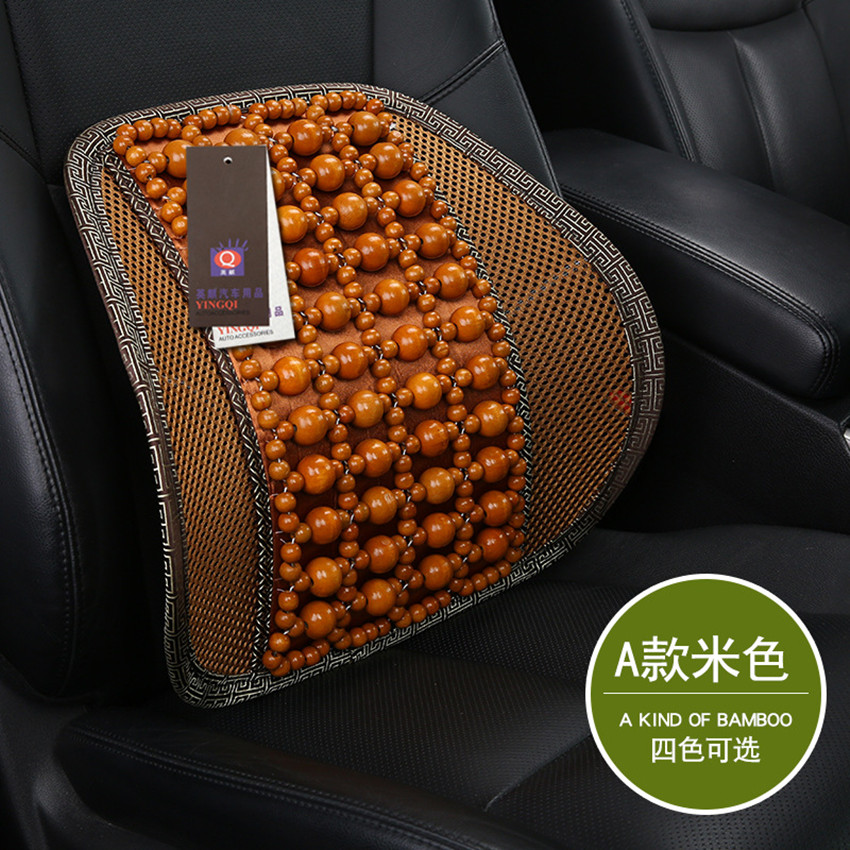 universal top quality Wooden Bead Seat Back Lumbar Support Cushion For Car Office Chair Pillow Massager 43cmx42cm car styling(China (Mainland))
