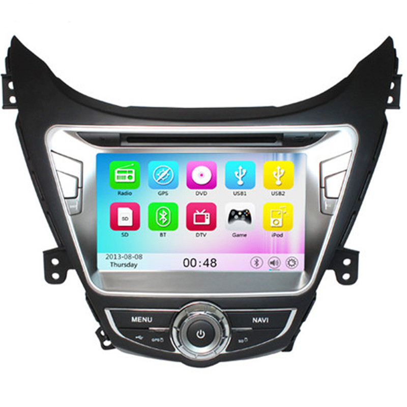 Wince 6.0 Car Radio for Hyundai Elantra 2012 Car DVD+GPS+RDS+Bluetooth+A2DP+Phone book+USB & SD+Support for iPod for iPhone+AUX(China (Mainland))