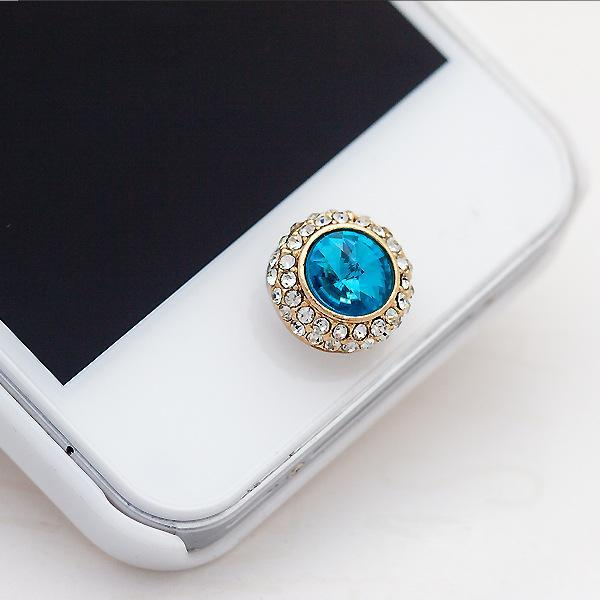 10PCS New design phone decoration alloy rhinestones sticker for iphone 4/4s/5s/5/6 plus home button sticker phone stickers(China (Mainland))