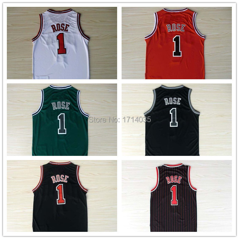 Hot sale 2015 Cheap New Basketball Jersey #1 Derrick Rose REV 30 Embroidery Logo Top quality Stitched Mens Sport shirt Wholesale(China (Mainland))