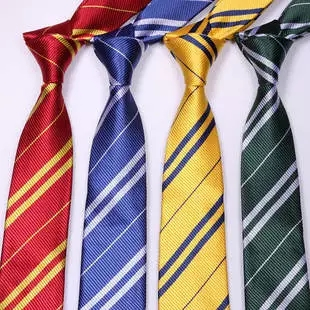 50pcs Fashion Striped Harry Potter Tie 4 colors school ties for man Students graduation gift Free Shipping(China (Mainland))