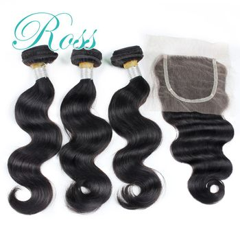 6A unprocessed virgin brazilian hair brazilian virgin hair with closure 3bundles ms lula hair with closure and bundles