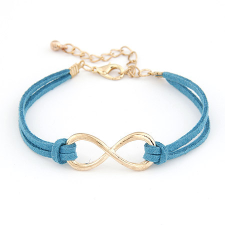 2014 Brand Design Korean Various Colors Fashion Vintage Pure hand Infinity Bracelets Jewelry Statement wholesale Hot salesPD26(China (Mainland))
