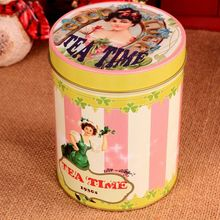 Vintage Spice Jar Kitchen Containers Spices Storage Box Food Container Scented tea sealed cans 14.5*11cm(China (Mainland))