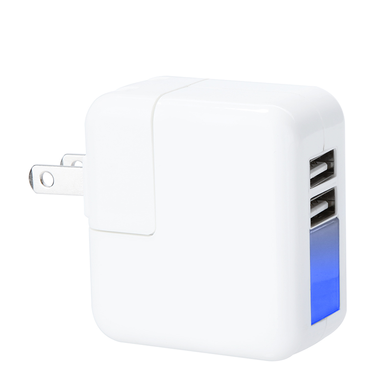 EU/US Plug Universal Mini 2 Port USB Charger Adapter Power Adapter Wall/Travel Charge for iPhone iPad Smart Phone Tablet 5V2.1A(China (Mainland))