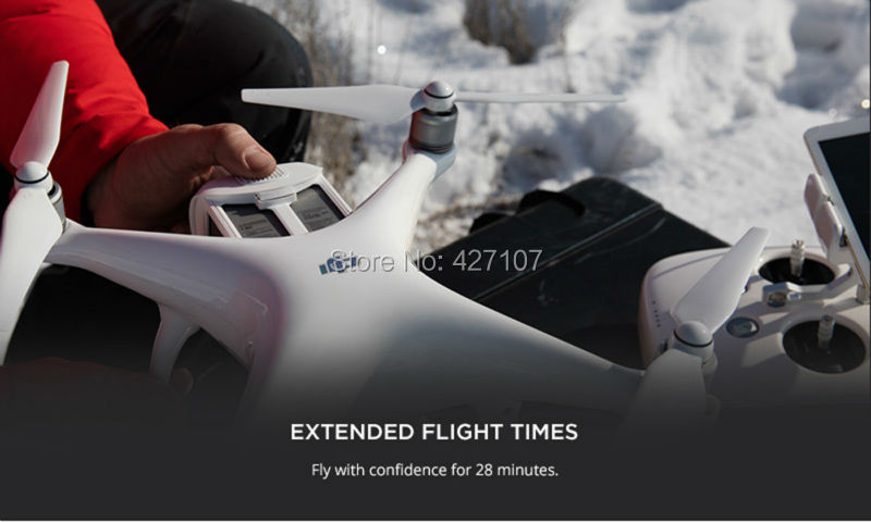 Free Shipping 2016 DJI Phantom 4 RC Quadcopter + Extra Battery + Hardshell Backpack + More Via EMS