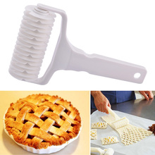 High Quality White Plastic Baking Tool Cookie Pie Pizza Pastry Lattice Roller Cutter Craft Free Shipment(China (Mainland))