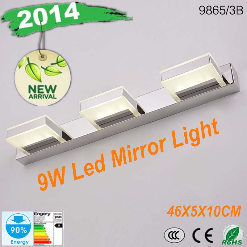 9W 18 LED 5730 SMD White Mirror Front Light Lamp Bath Wall Stainless Steel(China (Mainland))