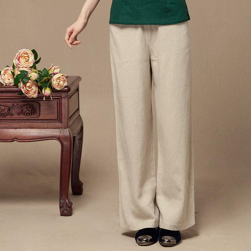 Fluid casual pants tang suit linen womens elastic waist trousers womens trousersОдежда и ак�е��уары<br><br><br>Aliexpress
