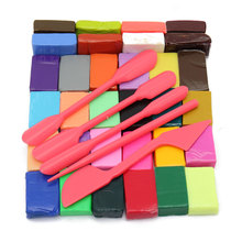 32 Colour Oven Bake Polymer Clay Block Modelling Moulding Sculpey 5 DIY Tool Hand Making Educational Toy For Children Kids Gift(China (Mainland))