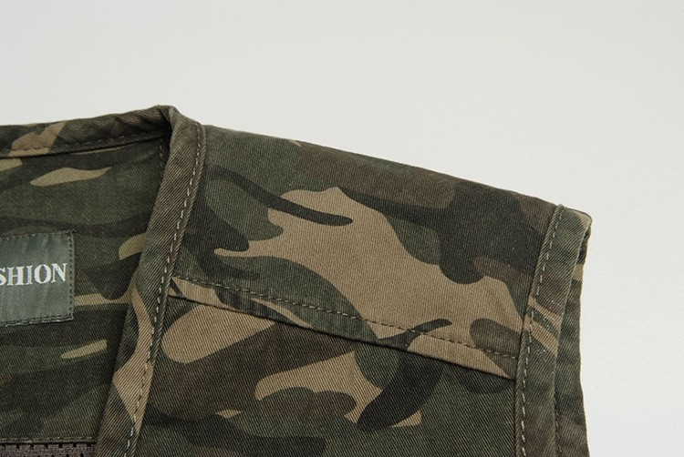 Summer Autumn Fly Fishing Vest Outdoor Camouflage Fishing Vest Men's Jackets Camping Coats Photography Vests Waistcoat