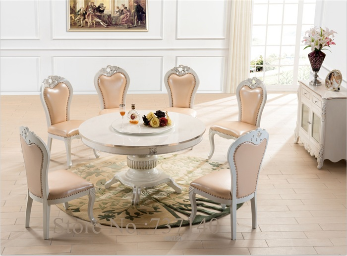 round dining table dining chair wood table round retro table white furniture luxury dining room set buy furniture in china(China (Mainland))