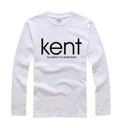 "2015- 100% Cotton Teenagers' Spring Casual O-Neck Long Sleeve T-Shirt - Band of ""Kent"" Printing(China (Mainland))"