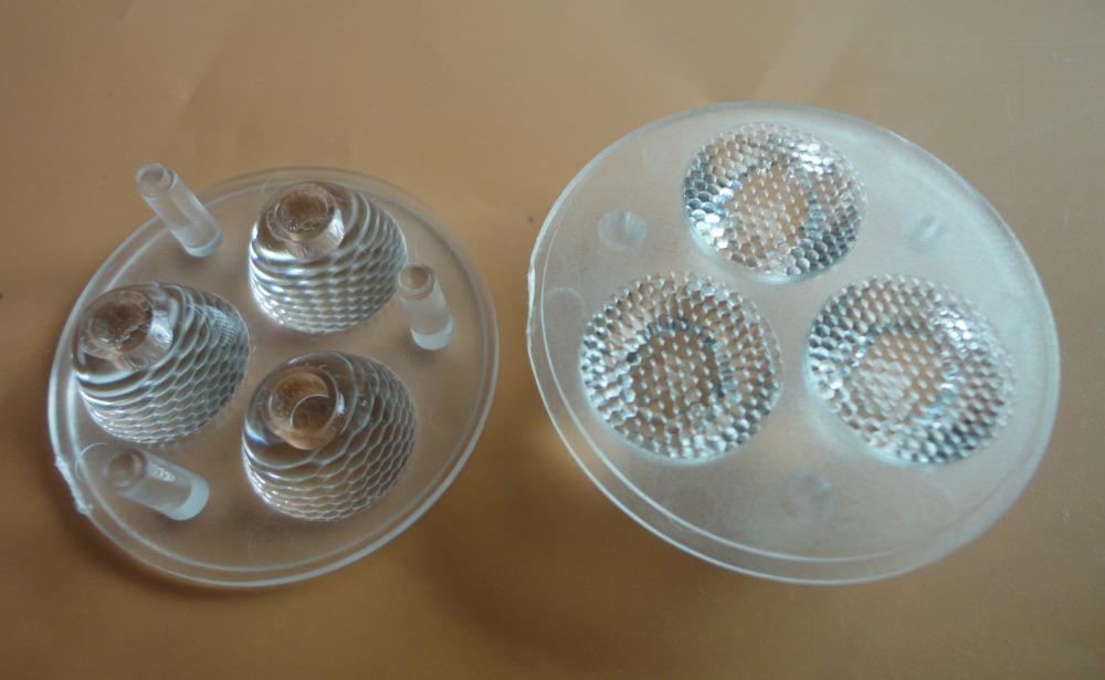 CREE XP-G2 3 UP 1 LED lens Diameter 35mm Bead surface 45 degrees XLamp XPE/XPG lens (10 pieces/lot)