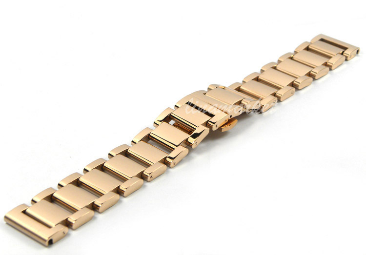21mm NEW Top Grade Heavy Solid 316L Stainless steel Rose Gold Plated  Watch Bands Bracelets S17<br><br>Aliexpress