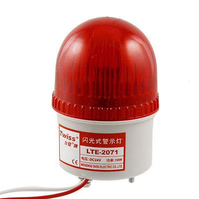 Red Flashing Light Industrial Signal Tower Warning Lamp DC 24V(China (Mainland))