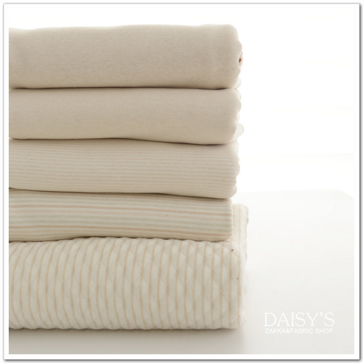 Natural Organic colored cotton knitted fabrics no added security, diy clothes Bedding ,good moisture absorption, permeability(China (Mainland))