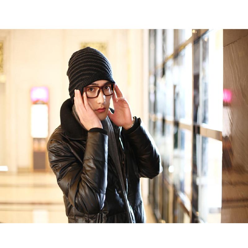 2015 winter tide male Korean men's winter fashion warm winter cap wool cap knitted caps headgear free shipping YY 8(China (Mainland))
