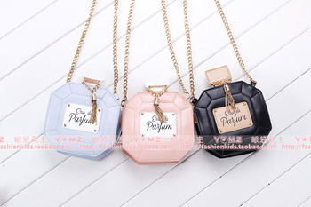 Hot Girls Baby Toddler Metal Chain Buckle Handbag Kids Shoulder Bag Children Crossbody Bag Purse women Perfume bottle mini bag