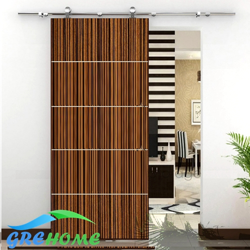 Global Free Shipping 6.6 FT stainless steel interior sliding barn door system(China (Mainland))